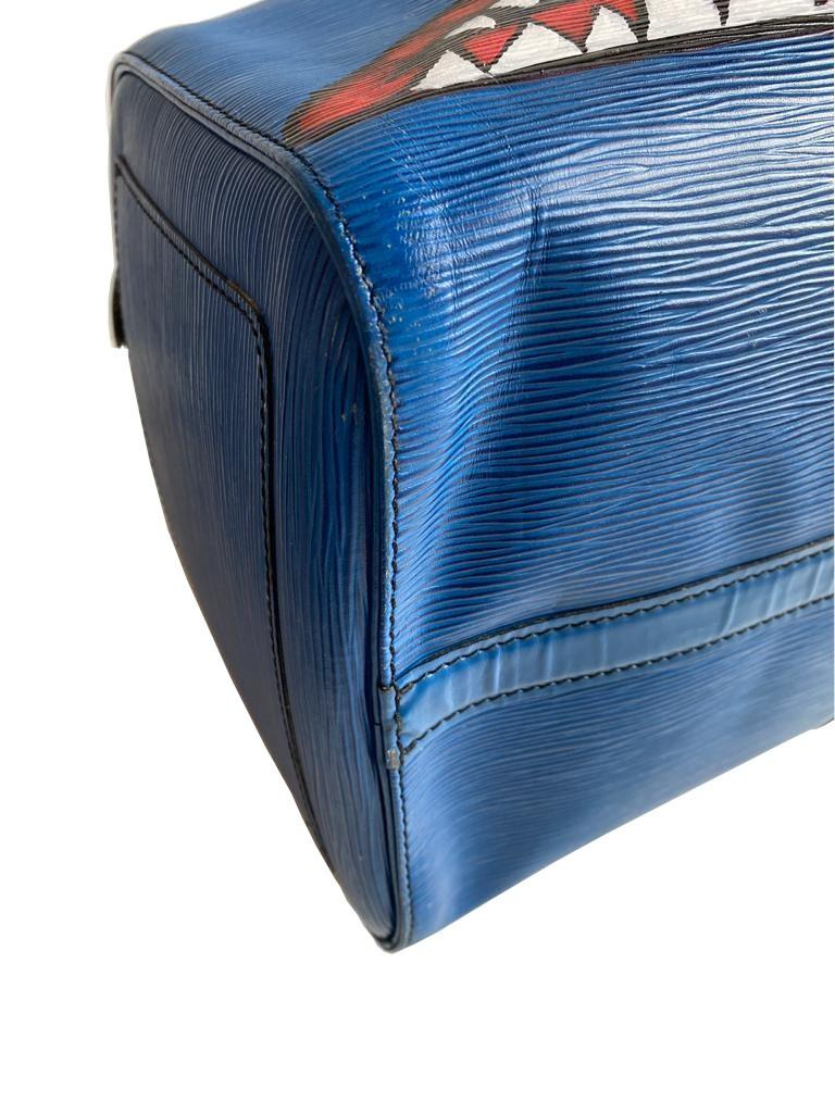 A Louis Vuitton Keepall 45 in Toledo Blue is the smallest version of the Louis Vuitton travel bag - Image 7 of 9