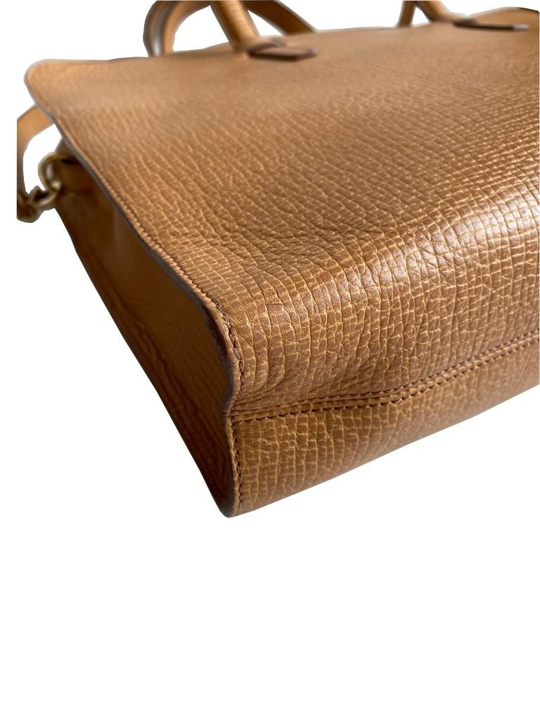 A Loewe Briefcase Handbag with Gold Hardware, might have been worn just once or twice. It's a very - Image 6 of 9