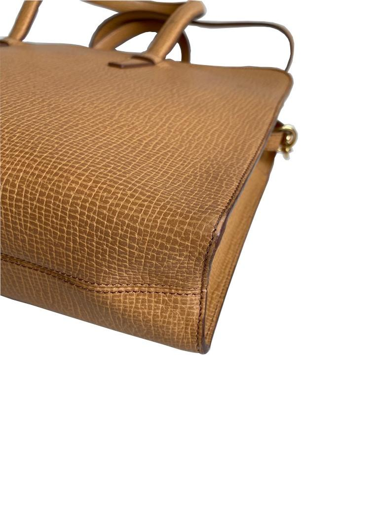 A Loewe Briefcase Handbag with Gold Hardware, might have been worn just once or twice. It's a very - Image 8 of 9