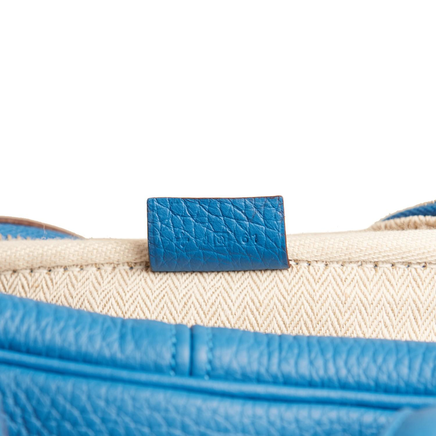 A Hermes Bleu de Galice Victoria II in clemence leather with palladium hardware, includes Dustbag. - Image 12 of 12