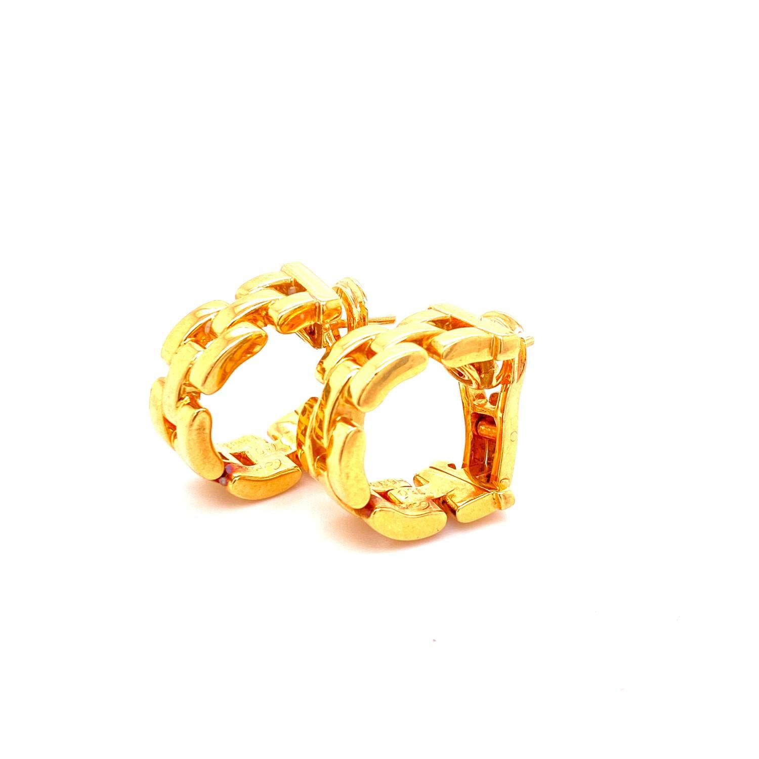 A pair of Cartier Panthere earrings mounted in 18ct gold. English. 1992. Signed and numbered with - Image 6 of 6