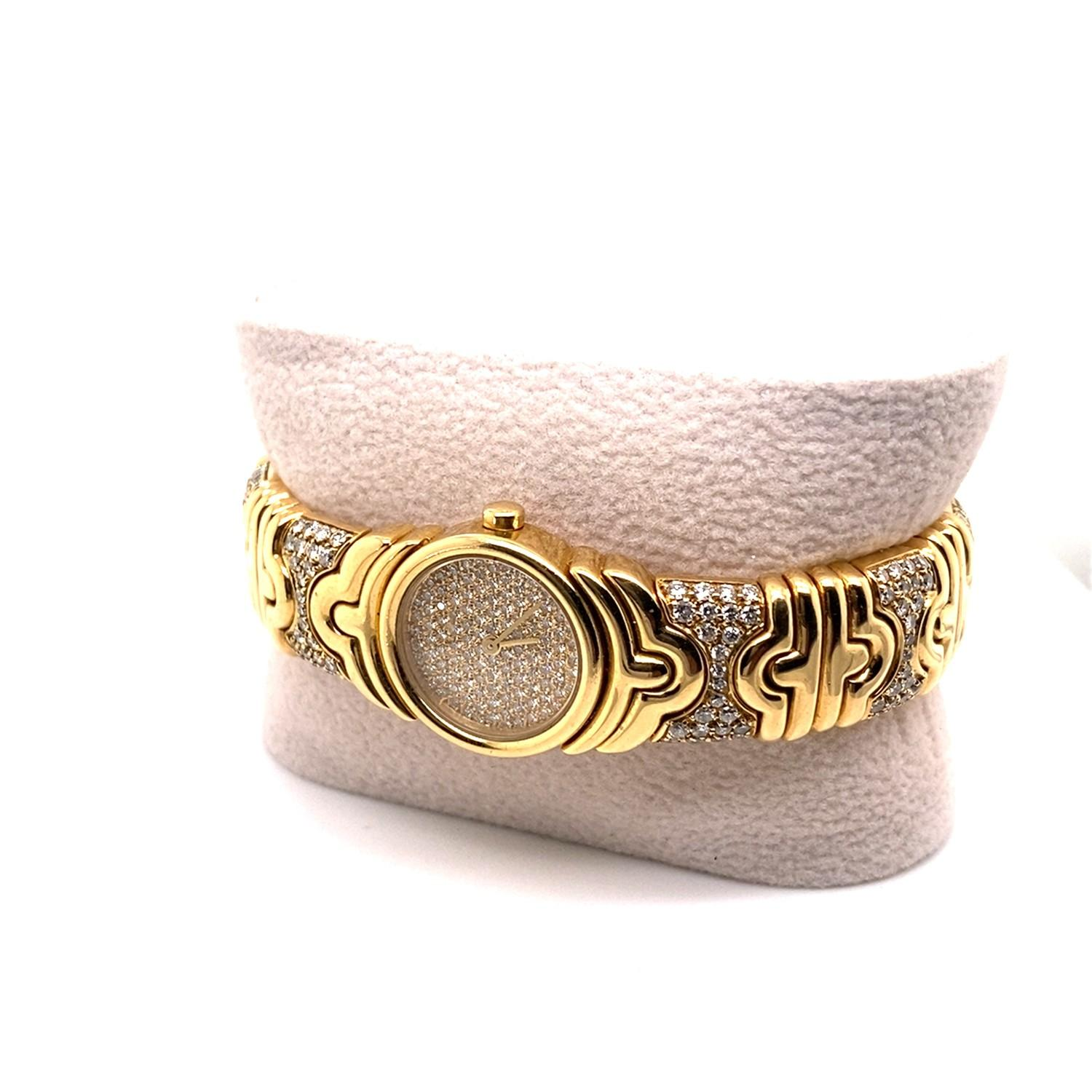 A Vintage Bulgari Parentesi Cuff Watch in the forn of a cuff mounted in 18ct gold and platinum. - Image 3 of 4
