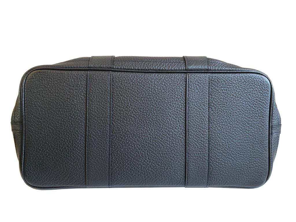 A Hermes Garden Party in black calf with palladium hardware, W.36cm x H.24cm x D.17cm, stamped N/A. - Image 10 of 11