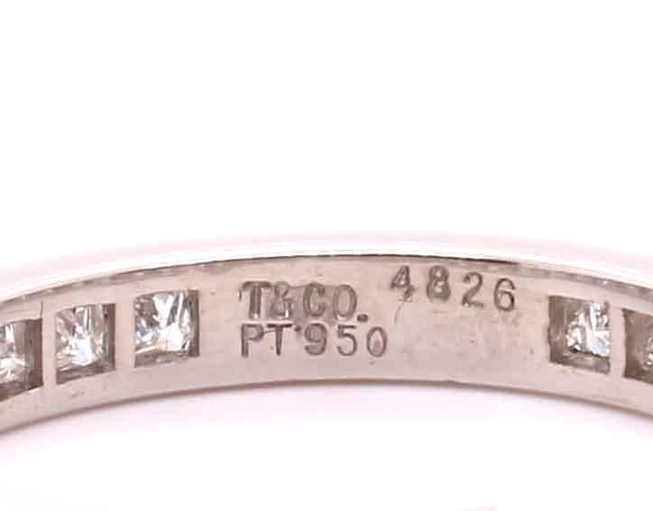 A Princess cut diamond eternity ring mounted in platinum by Tiffany & Co. Contemporary. Signed - Image 6 of 6