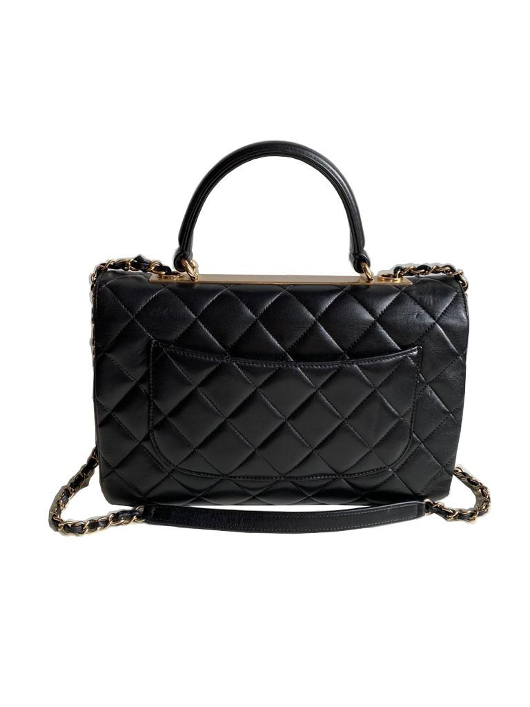 A Chanel Trendy CC in Black quilted leather with Gold Hardware, can be carried either in the hand - Image 7 of 9