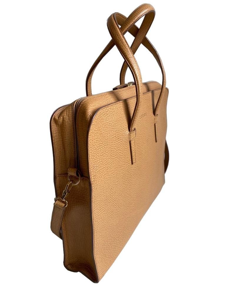 A Loewe Briefcase Handbag with Gold Hardware, might have been worn just once or twice. It's a very - Image 3 of 9