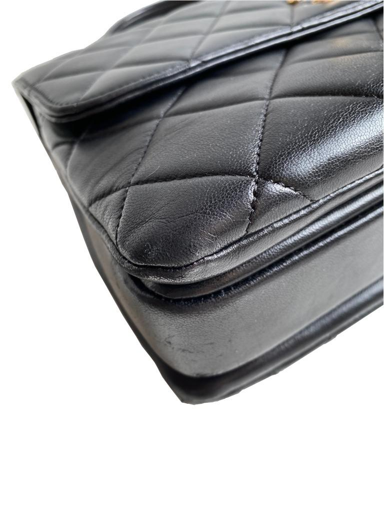 A Chanel Trendy CC in Black quilted leather with Gold Hardware, can be carried either in the hand - Image 3 of 9