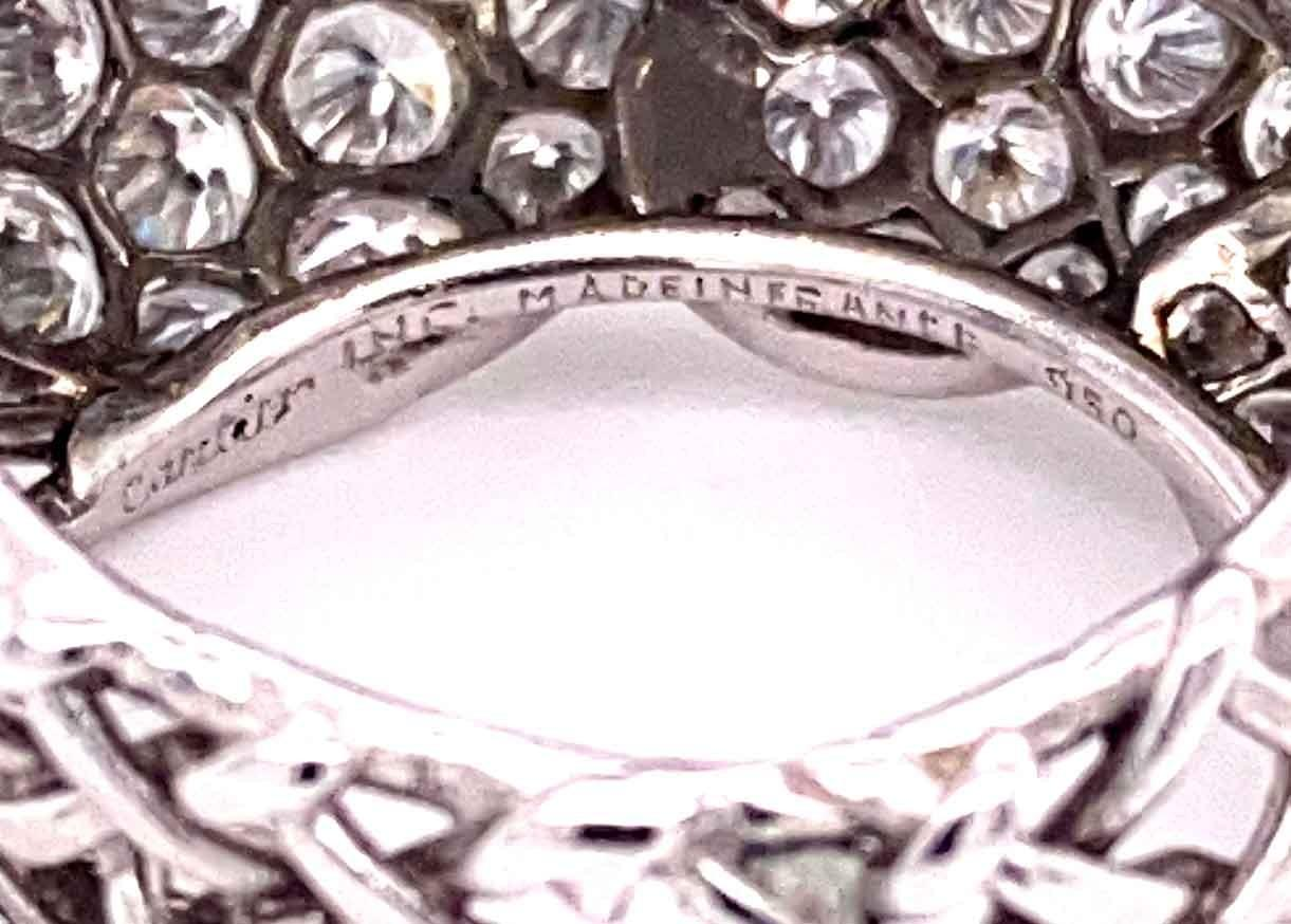 A 1950's Cartier Cocktail Ring, Cartier baguette and brilliant cut pave set dome top bombe ring - Image 3 of 9