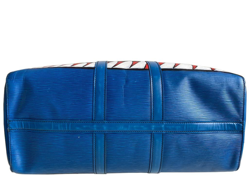 A Louis Vuitton Keepall 45 in Toledo Blue is the smallest version of the Louis Vuitton travel bag - Image 8 of 9