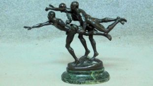 Alfred Boucher (1850-1934), Au But (The Finishing Line), signed and numbered 4381, bronze with black