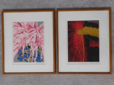 A pair of framed and glazed artist's proof limited edition wood block prints by Masaaki Tanaka.