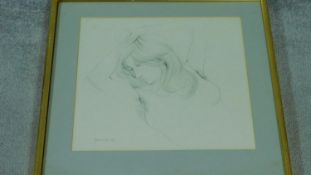 A framed and glazed pencil sketch by Irish artist John Skelton (1925 Co. Armagh ? 2009). Depicting a