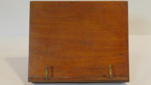 A 19th century mahogany adjustable desk top reading or music stand. 34x28cm