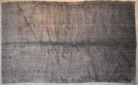 A contemporary rug with a plain grey weave. L.252x140cm