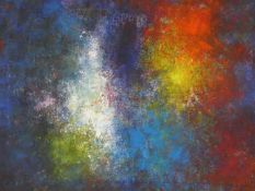 Terence Howe (B.1943) a framed oil on canvas, abstract composition, Deep Space, signed with