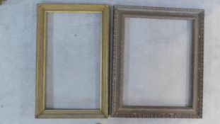 Two giltwood and gesso picture frames. 97x103cm