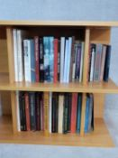 A large collection of fourty four Art and Antiques reference books and exhibition catalogues.