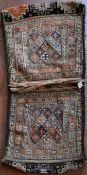 A Mafrash saddle bag with all over polychrome stylised weave. L.138xW.60cm