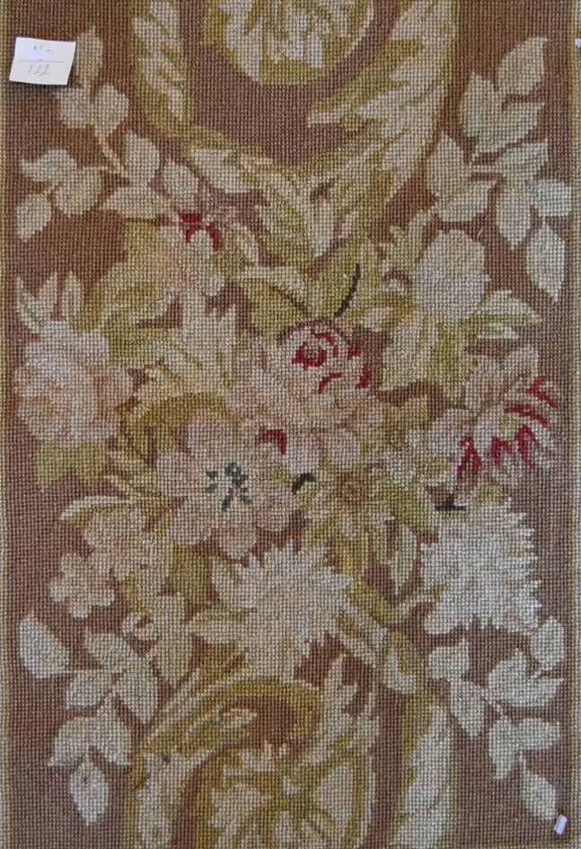 Pair of needlepoint cushion covers, all over foliate design. L.63xW.46cm - Image 2 of 4