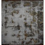 A Persian style re-died and distressed effect carpet, L.197xW.189cm