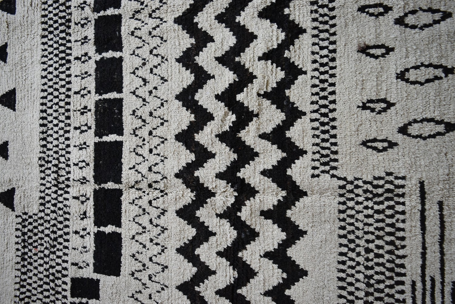 A Berber Style rug with abstract stylised geometric motifs across the field. L.273xW.182cm - Image 2 of 4