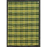 A modern Kilim with all over plaid weave. L.203xW.145cm
