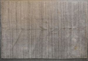 A contemporary linear rug in various shades of grey. L.256x170cm