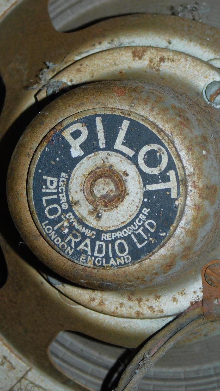 A vintage Pilot Radio Ltd valve radio in burr walnut Art Deco case. H.50 W.39 D.28cm - Image 7 of 10
