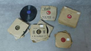 A miscellaneous collection of circa 100 vintage 78 r.p.m. records.