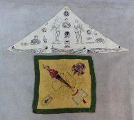 Two scarves. One WW1 scarf sling from the St John's ambulance brigade, designed with various