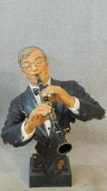 A Willits Design head and bust figure from the All That Jazz series, Benny Goodman. number 89 from a