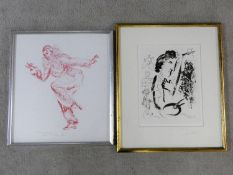 Tom Merrifield (B.1932) a framed and glazed signed limited edition etching, pierrot figure 6/150 and
