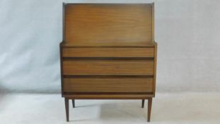 A Richard Hornby 1960's vintage afromosia bureau for Fyne Ladye Furniture with a fitted interior
