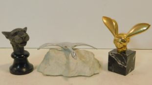 A miniature version of the brass bee sculpture from the Philadelphia Museum of Art by G. Lachaise,