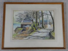 A framed and glazed watercolour, rural scene, signed Paulina M Terry. 59x77cm