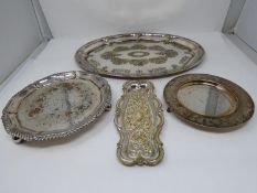 A collection of various 19th century silver plated trays. 41x30cm