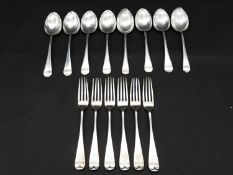 An extensive collection of mixed 19th century and later silver plated cutlery, with maker's marks,