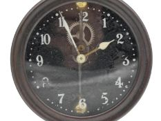 A Silent Kee-Less Watson Clock Company mystery/gravity clock, the alloy cased clock movement