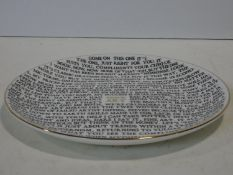 Grayson Perry RA (b.1960) 100% Art Plate, 2020 fine china plate, with artist's seal printed to base,