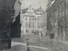 1954 folio with a print by Polish artist Zofia Stankiewicz. 31x42cm