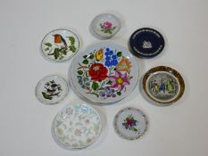 A collection of eight various side plates, Herend, Minton, Crown Staffordshire and Wedgwood, hand