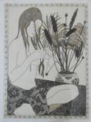 Sheila Oliver, a signed limited edition etching, 26/50 Summer V, signed, framed and glazed. H.42xW.