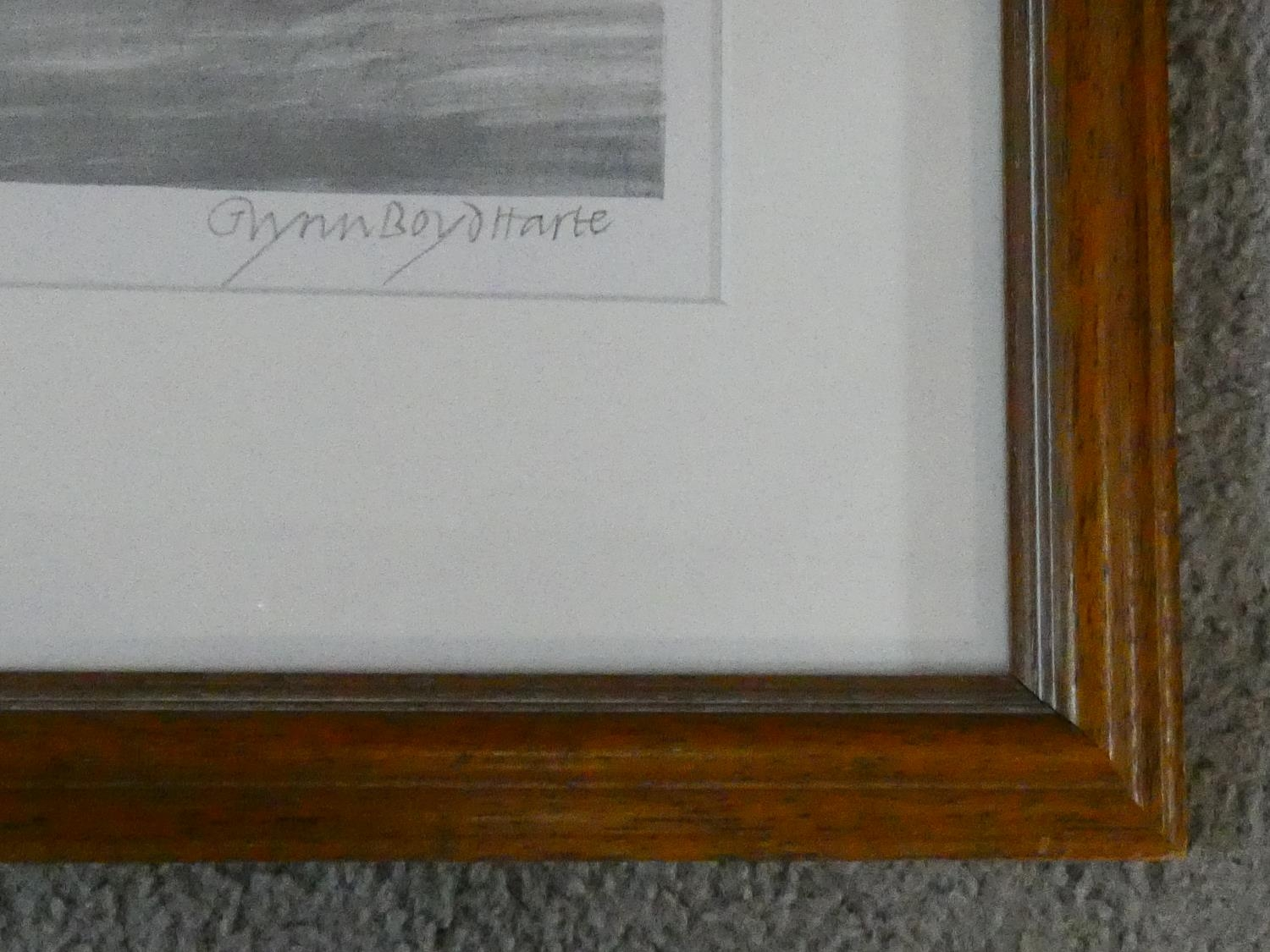 A framed and glazed signed coloured lithograph by British artist and illustrator Glynn Boyd - Image 5 of 6