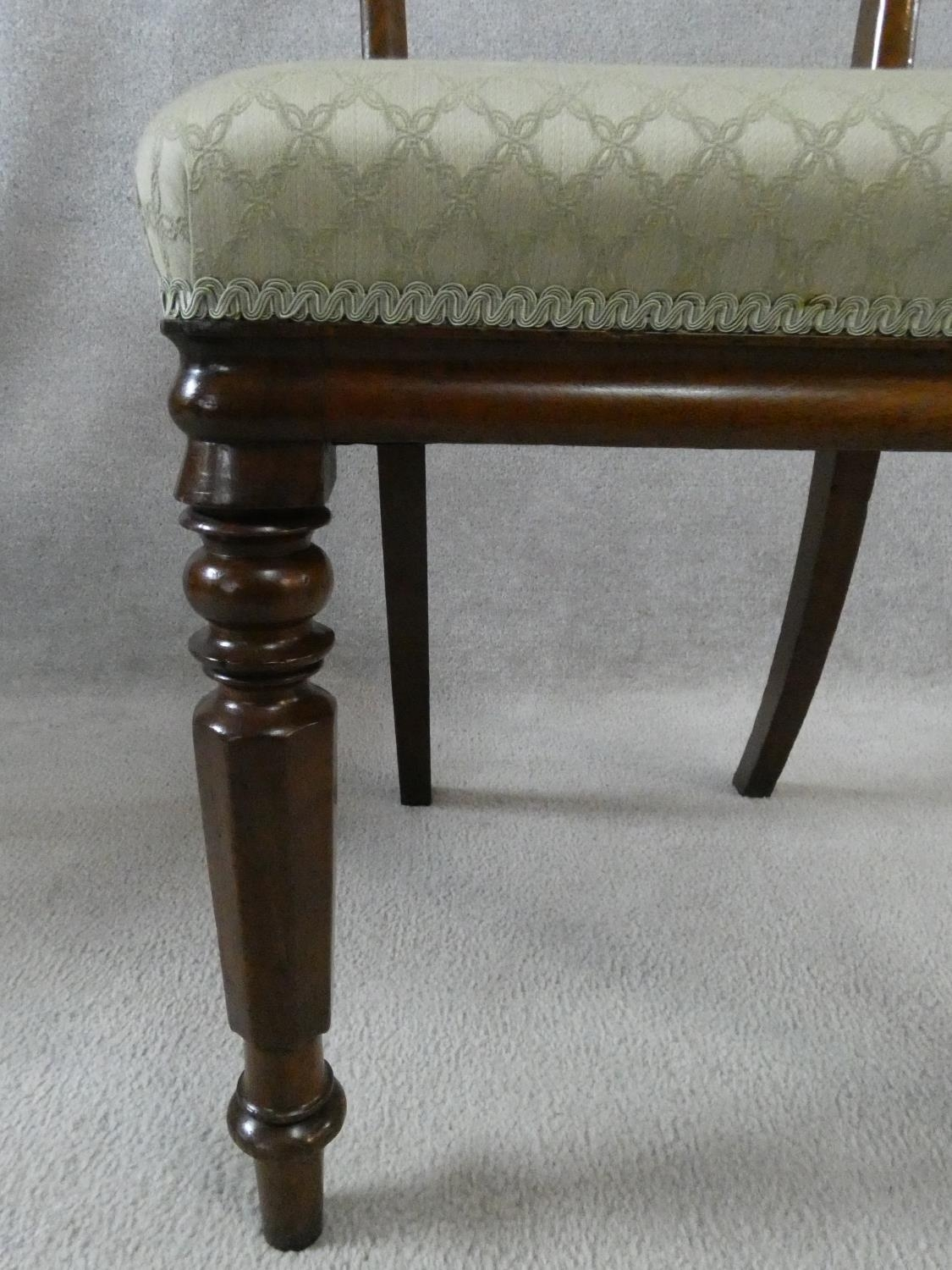 A set of eight William IV mahogany dining chairs with acanthus carving to the backs raised on - Image 7 of 10