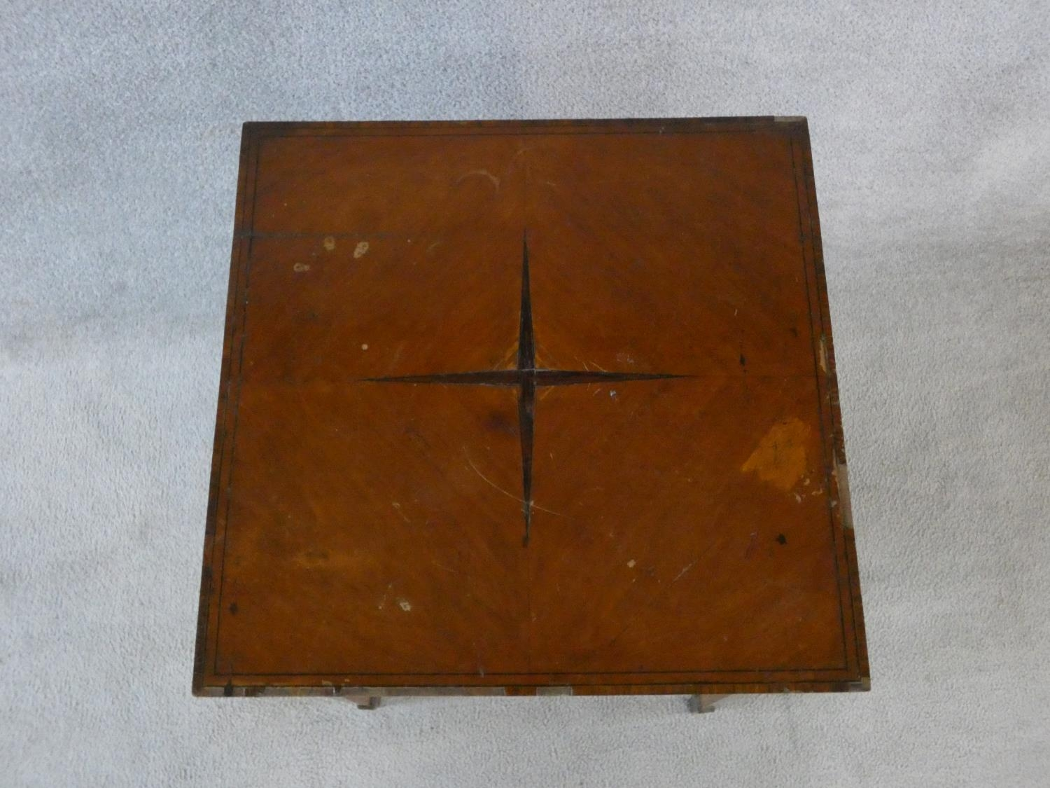 An Edwardian fitted mahogany record cabinet. H.70 W.52 D.52cm - Image 4 of 18