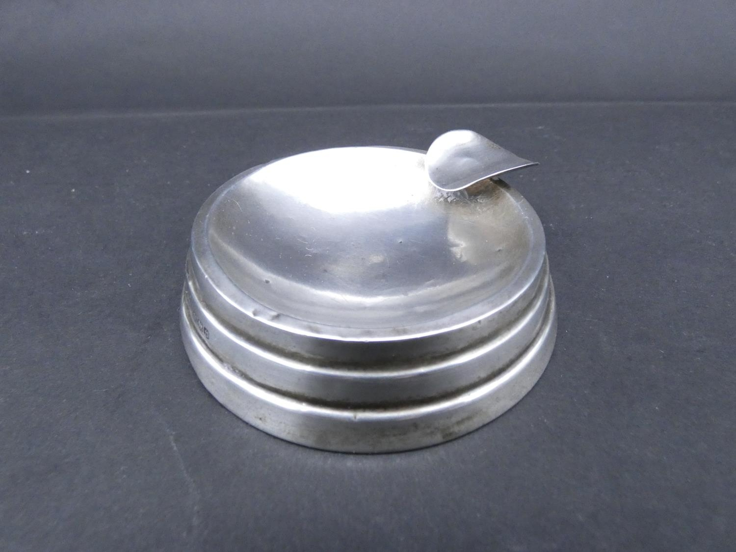 An antique cut glass and brass pyramidal ink well along with a weighted silver ashtray. Hallmarked: - Image 15 of 20