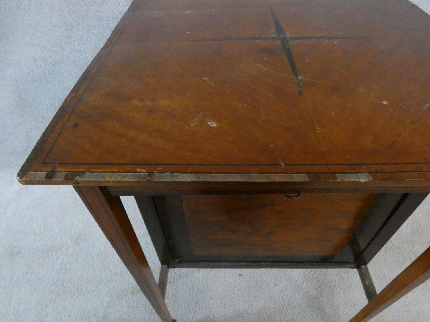 An Edwardian fitted mahogany record cabinet. H.70 W.52 D.52cm - Image 11 of 18