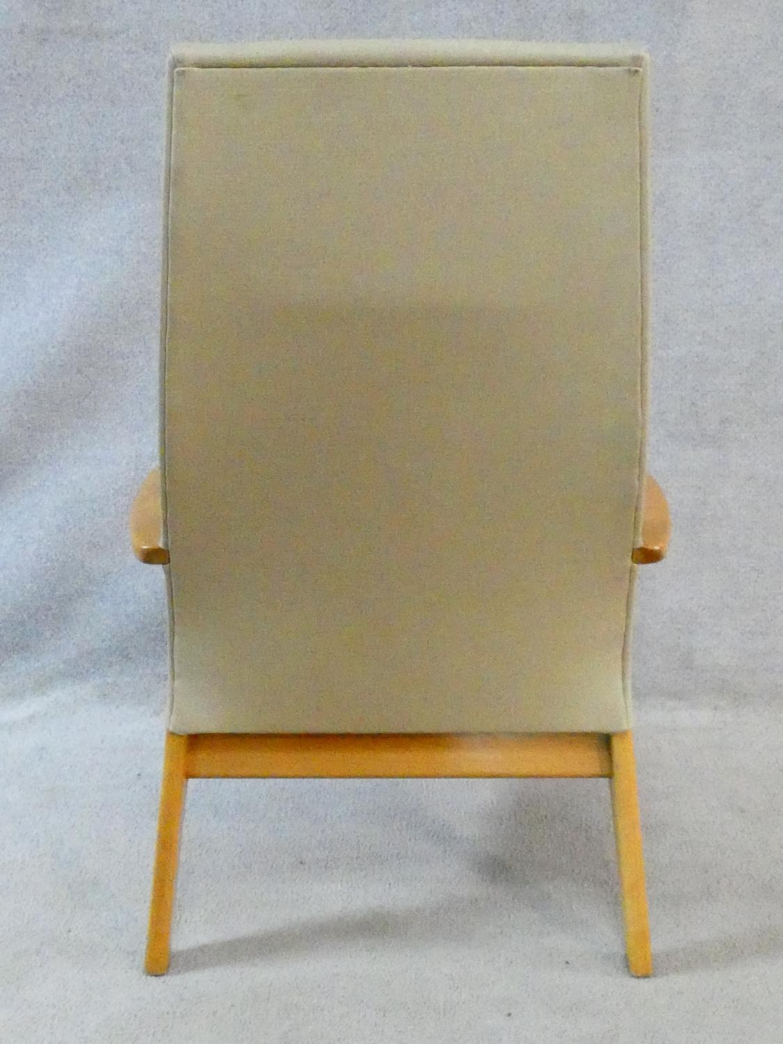 A vintage Parker Knoll, model PK 1067-70 from 1968, beech framed lounge chair. H.102cm - Image 14 of 14