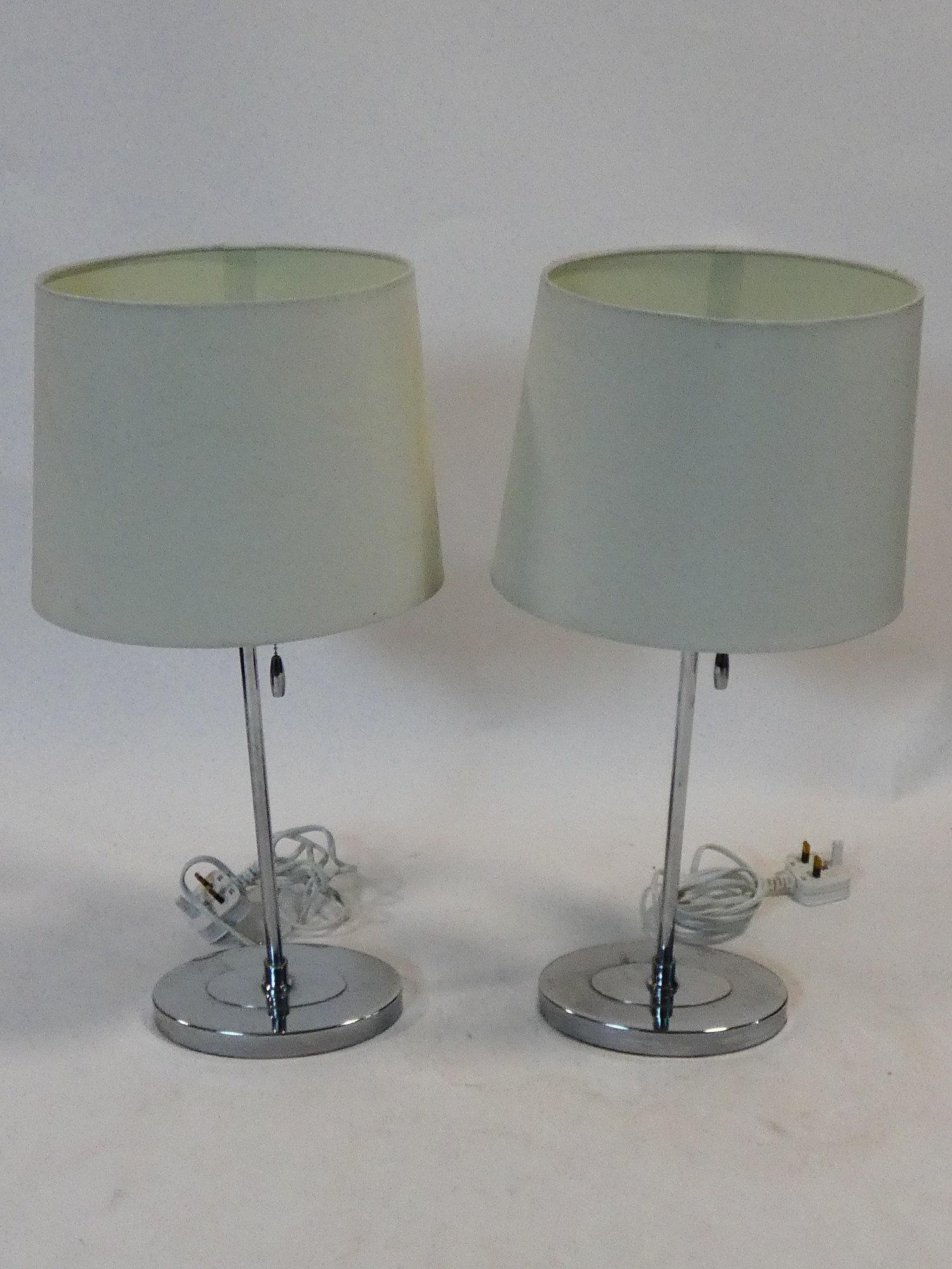 A pair of contemporary table lamps and their shades and a similar pair. H.59cm - Image 7 of 12