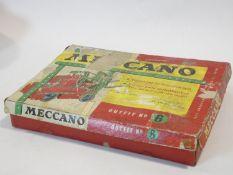 A vintage Meccano set, Outfit No.6, boxed. H.7 W.40 L.30cm